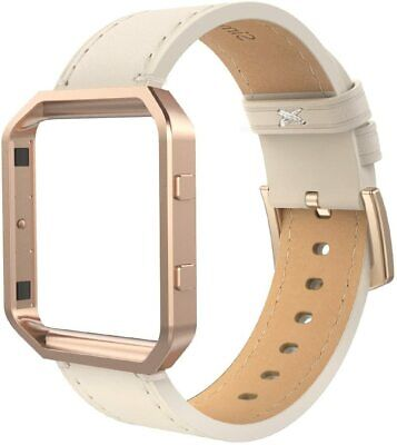 AU25.89 • Buy Leather Band Compatible With Fit Bit Blaze, Large Size With Frame, Genuine