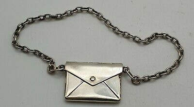 £40 • Buy Unusual Antique American Small Size Stamp Sterling Silver Stamp Case Circa 1910