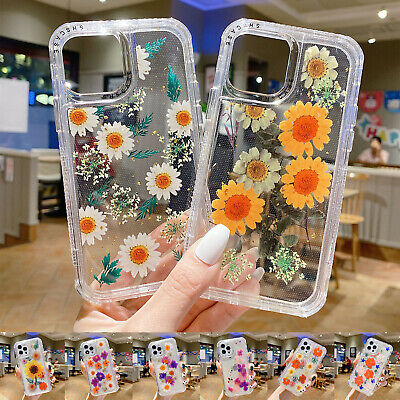 AU8.97 • Buy For IPhone 11 12 Pro Max XS X XR 8+ 7 Clear Hybrid Rubber TPU Flower Case Cover