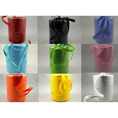 £2.40 • Buy 7mm Paper Raffia Ribbon Various Colours X 2, 5 Or 10M Cut From Roll Free UK Post