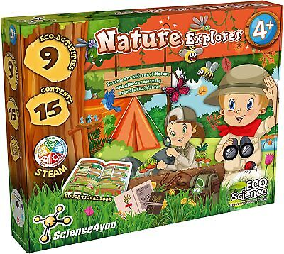£16.95 • Buy Science 4 You 'Nature Explorer' STEM Eco Science Kit For Kids 918925.006 Ages 4+