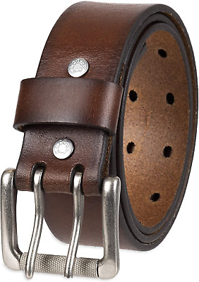 $26.99 • Buy Levi's Men's Double Prong Casual Belt 42, Brown Genuine Leather Mens Buckle