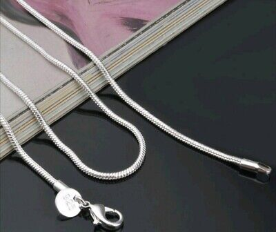 £3.50 • Buy 2mm 925 Sterling Silver Snake Chain Fashion Accessory