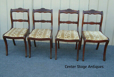 $425 • Buy 62032 Set 4 Antique Mahogany Dining Chairs
