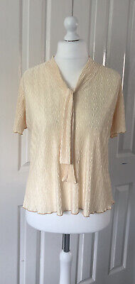 £6.99 • Buy Ladies Gold Top Blouse From Forever By Michael Gold UK Size M 14 16