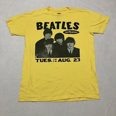 $15.89 • Buy The Beatles Concert Poster T-Shirt Adult Size Large Yellow