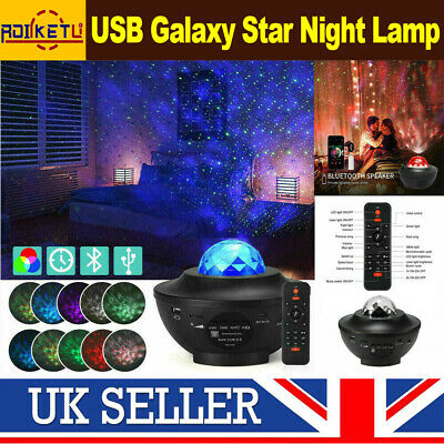 £15.67 • Buy Galaxy Star Night Lamp LED Ocean Wave Starry Sky Projector Light W/Music Player