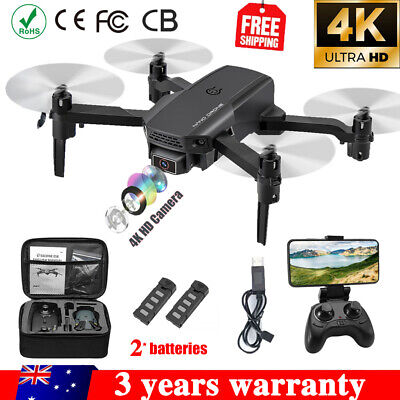 AU58.98 • Buy RC Drone 4K HD Wide Angle Camera WiFi FPV Drone RC Quadcopter W/2 Batteries 2021