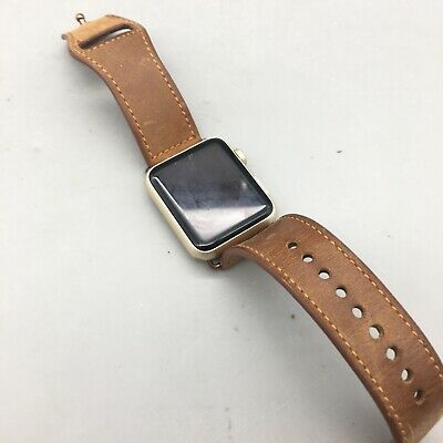 $ CDN40.72 • Buy Apple Watch Series 7000 42mm W/Leather Strap - Parts/Not Working - Fast Ship C20