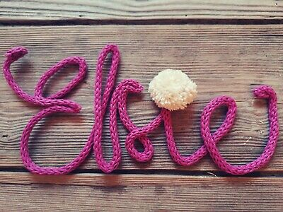 £1.50 • Buy Personalised Knitted Wire Word Name Sign Nursery Decor Home Wall PER LETTER
