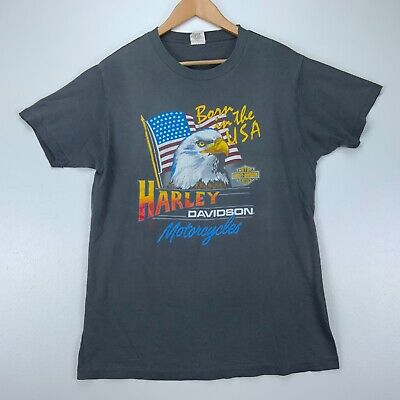 $ CDN62.93 • Buy 1982 Harley Davidson Motorcycles Born In The Usa Vintage T-Shirt Size Large Gray