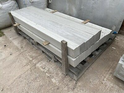 """£10 • Buy 6Ft X 6"""" ~ Smooth Reinforced Concrete Fencing Gravel Boards / Base Panels ~ New"""