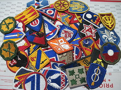 $34.95 • Buy LOT 50 Assorted ARMY Shoulder  Insignia Military Color Patches Dealer Patch   M