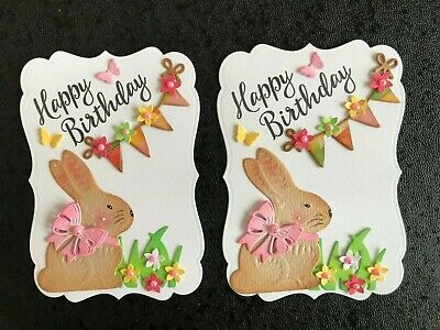 £2.75 • Buy Luxury Birthday Bunny, Flowers & Bunting Card Toppers (F12)