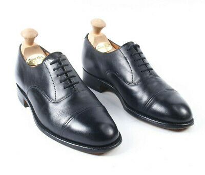 £27.50 • Buy Sanders Black Oxford Formal Lace Up Leather Shoes Size UK 7