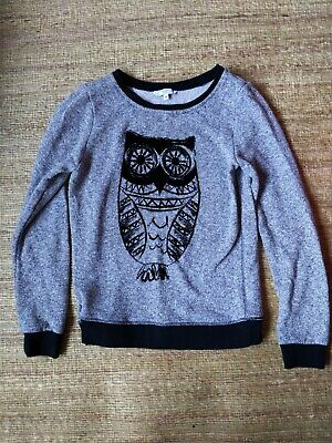 £5 • Buy Ladies New Look Black Owl Jumper Size 10, Excellent Condition