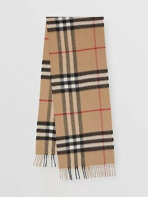 £180 • Buy Burberry The Classic Check Cashmere Scarf For Women - Camel. RRP £370