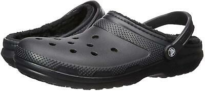 $22.78 • Buy Crocs Mens Classic Lined Slip On Casual Clogs, Black/Black, Size 6.0 9wWy