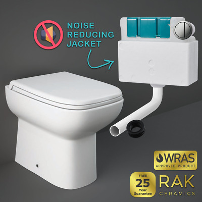 £149.95 • Buy RAK Back To Wall Compact BTW Toilet Pan Soft Close Seat Flush Concealed Cistern