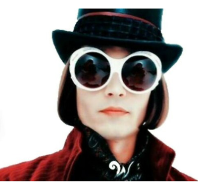 AU13.99 • Buy Charlie & The Chocolate Factory Johnny Depp Willy Wonka Sunglasses Costume Acces