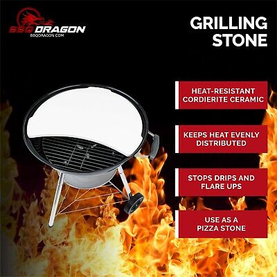 $ CDN95.66 • Buy BBQ Dragon Smoking Stone & Pizza For 22  Weber Kettle Grill Accessories, Chargri