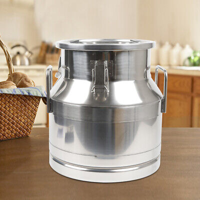 $79.60 • Buy  Milk Can 304 Stainless Steel 12L Wine Pail Bucket Tote Jug Oil Barrel Canister