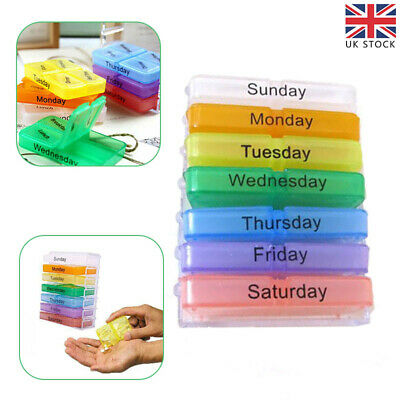 £5.58 • Buy Weekly Daily Pill Box Organiser Medicine Tablet Storage Dispenser 7 Day 4Times