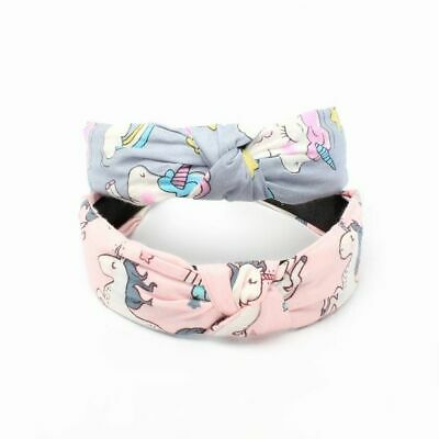 £3.99 • Buy Girls Childrens Kids Unicorn Print 2.8cm Knotted Wide Hair Band Alice Band
