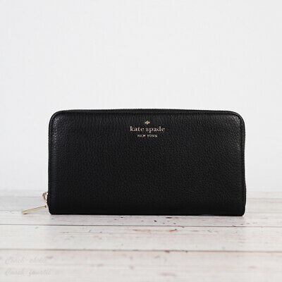 $ CDN100.65 • Buy NWT Kate Spade New York Leila Leather Large Continental Wallet In Black