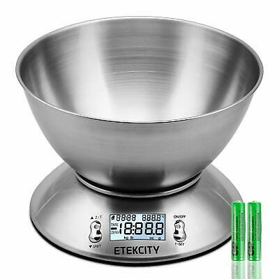 £24.80 • Buy Digital Kitchen Food Scales, Stainless Steel Weighing Cooking Scales