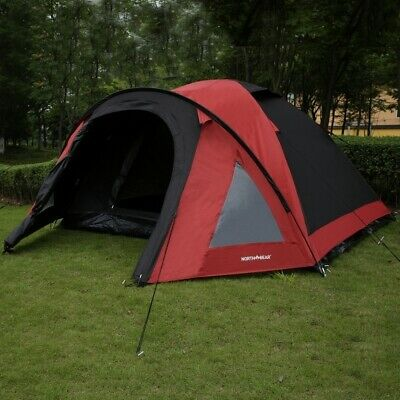 £79.99 • Buy North Gear Camping 4 Man Blackout Waterproof Tent, Red