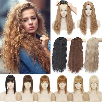 £10.06 • Buy Mega Thick Toupee Clip In Topper Real Natural Curly Hair Extensions As Human UK