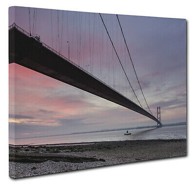 £16.75 • Buy Humber Bridge Dawn Canvas Print Wall Art CANVAS PICTURE PRINT Large And Small