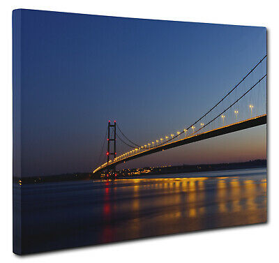 £16.75 • Buy Humber Bridge Dusk Canvas Print Wall Art CANVAS PICTURE PRINT Large And Small