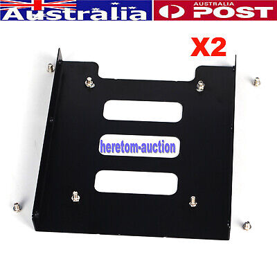 AU10.99 • Buy 2X 2.5  To 3.5  Bay SSD Metal Hard Drive HDD Mounting Bracket Adapter Dock /Tray