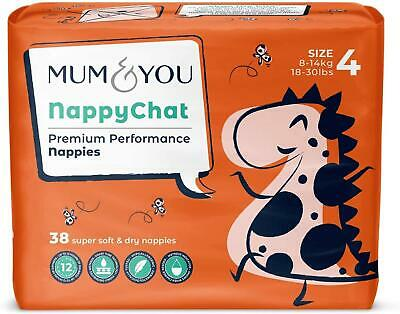 £12.01 • Buy MUM & YOU Premium Performance Nappychat Eco-Nappies, Size 4 (38 Nappies)