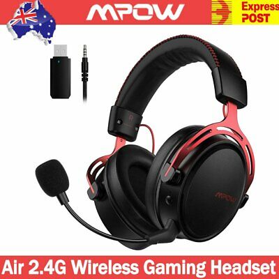 AU74.66 • Buy Mpow Air 2.4G Wireless Gaming Headset Headphones Stereo W/ Mic For PC Laptop