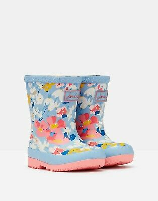 £21.95 • Buy Joules Baby Blue Floral Wellies - Sizes Baby 4, 5, 6 & 7 - Free P&P