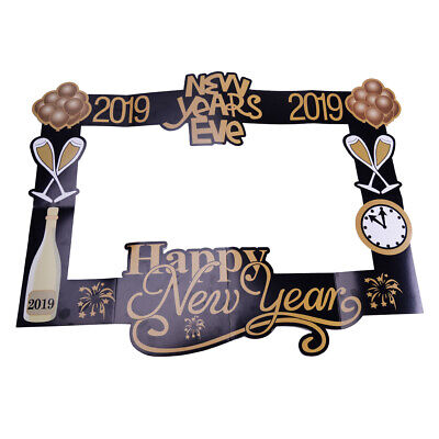 £5.57 • Buy Happy New Year Eve Photo Booth Props Party Decor Selfie Photography Favors Lou