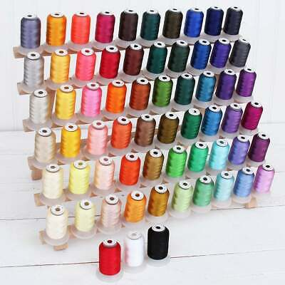 $29 • Buy 63 Spool Brother Colors Polyester Embroidery Machine Thread / 500M