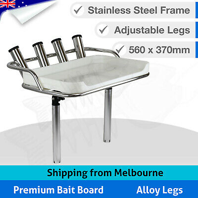 AU249 • Buy Premium BAIT BOARD Fishing Boat Cutting Fish Fillet Stainless Steel Rod Holders