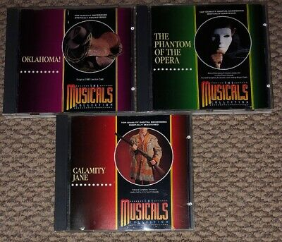 £4.99 • Buy The Musicals CD Collection Oklahoma The Phantom Of The Opera & Calamity Jane