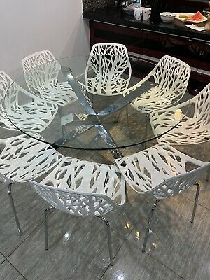 AU390 • Buy Glass Dining Table And Chairs