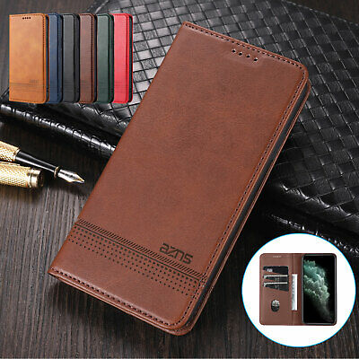 AU10.66 • Buy For IPhone 11 12 Pro Max XS XR 8 7 Magnetic Leather Card Holder Stand Case Cover