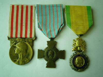 £69.99 • Buy WWI 1914-18 French Medaille Militaire Morlon & Combat Cross Military Medal Trio