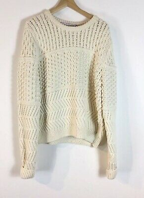 £30 • Buy & Other Stories Cream White Chunky Knit Bobble Jumper Sweater L Slouchy