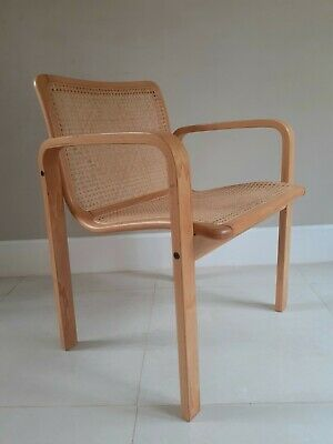 £150 • Buy Vintage Habitat Cane And Beech Bentwood  Armchair (4 Available)