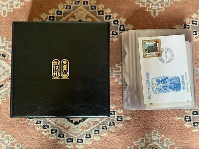 £249.99 • Buy Treasures Of Tutankhamun 23k Gold Stamps Firs Day Covers File Coa Mint Staffa