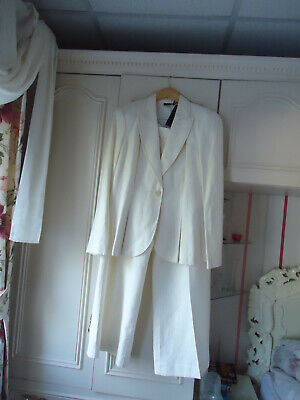 £45 • Buy Bnwtags Linea Cream Trouser-suit-16 Jacket And 14 Trousers 52% Silk48% Linen