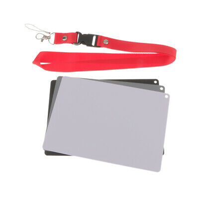 £6.20 • Buy 18% Gray Card For Digital & Film Photography With Lanyard, Camera Accessories